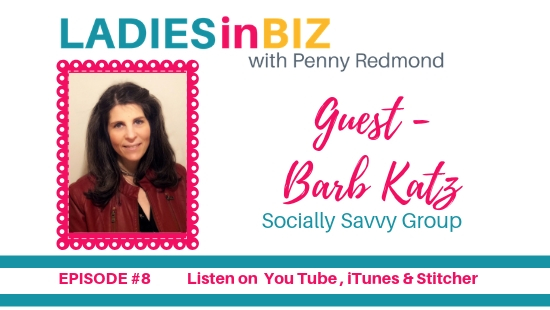 EPISODE # 8  BARB KATZ- Networking Events- how to be amazing at events!