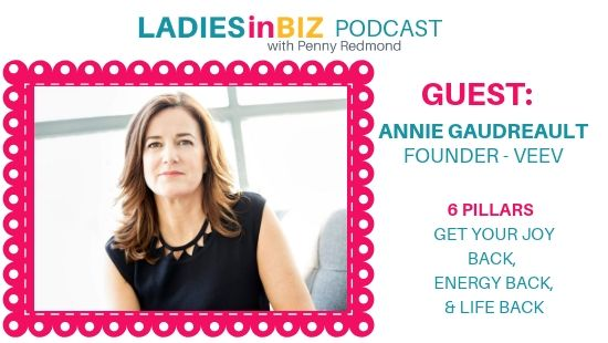 Guest # 21 ANNIE GAUDREAULT – 6 Pillars to get joy back, energy back and your life back